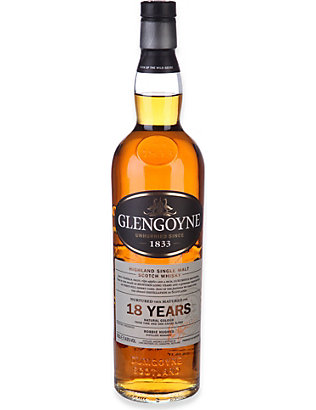 GLENGOYNE: 18-year-old Highland single malt Scotch whisky 700ml