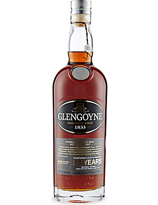 GLENGOYNE: Glengoyne 25 year old whisky 700ml