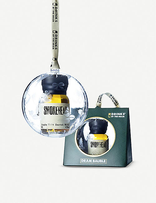 WHISKY AND BOURBON Drinks By The Dram Smokehead whisky bauble 30ml