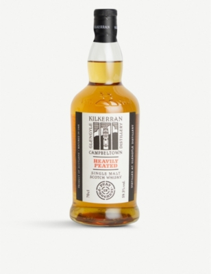 WHISKY AND BOURBON Kilkerran heavily peated single malt Scotch whisky 700ml