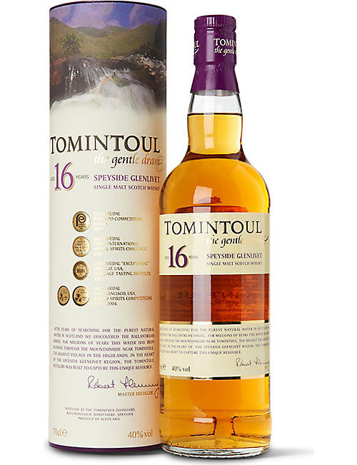 SPEYSIDE: Tomintoul 16-year-old single malt Scotch whisky 700ml