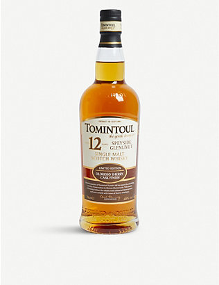 WHISKY AND BOURBON: Tomintoul Speyside Glenlivet 12-year-old Single Malt Scotch Whisky 700ml