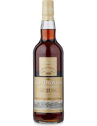 HIGHLAND: 21 year single malt scotch whiskey 700ml