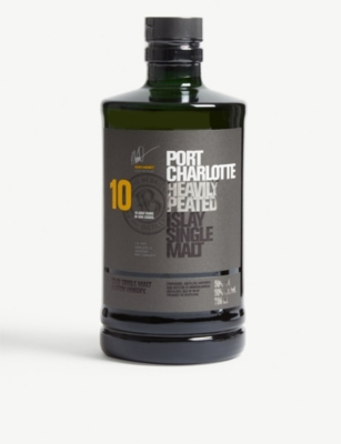 WHISKY AND BOURBON Port Charlotte Islay single malt Scotch whisky 700ml