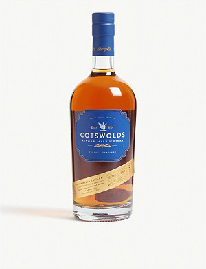 WHISKY AND BOURBON Cotswolds single malt whisky 700ml