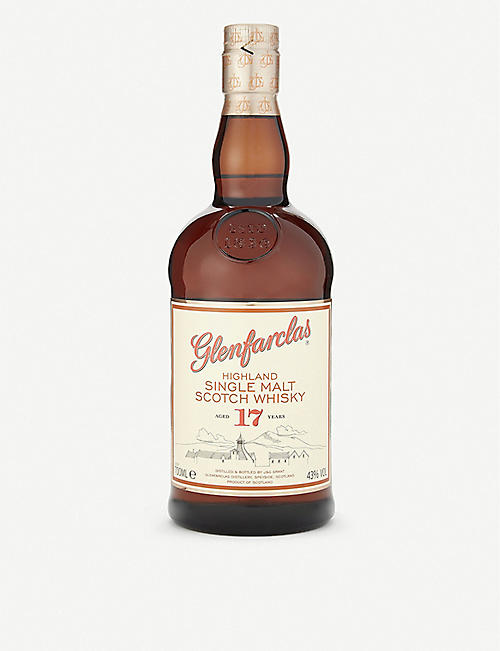 GLENFARCLAS: Highland 17 year old single malt scotch whiskey 700ml