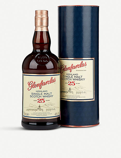 GLENFARCLAS: Glenfarclas 25-year-old single malt Scotch whisky 700ml