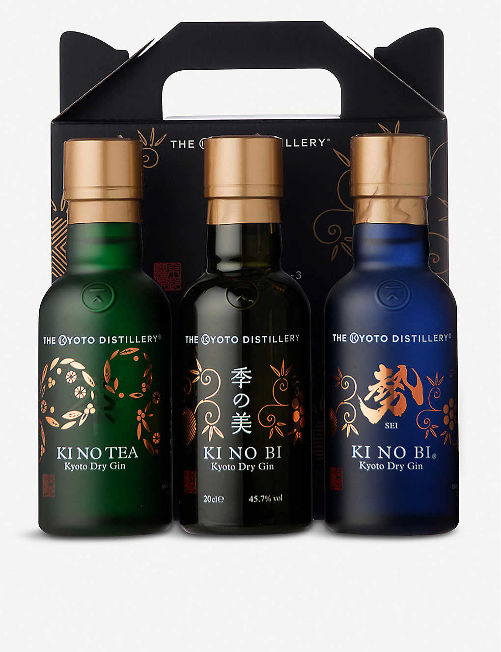 GIN: The Kyoto Distillery gin miniatures tasting set 200ml x 3