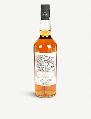 WHISKY AND BOURBON Game of Thrones Cardhu Gold Reserve single malt whisky 700ml