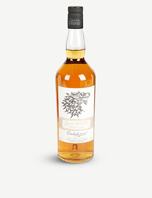 WHISKY AND BOURBON Game of Thrones Dalwhinne Winter's Frost single malt whisky 700ml