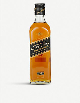 JOHNNIE WALKER: Black Label 12-year-old blended Scotch whisky 350ml