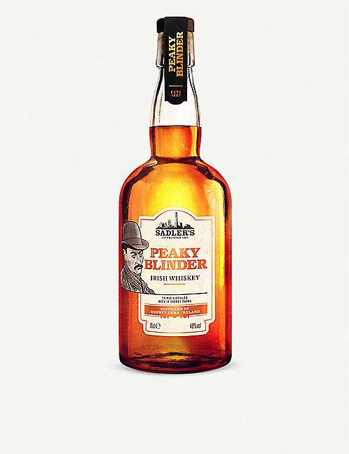 WHISKY AND BOURBON: Sadler's Peaky Blinder Irish whiskey 700ml