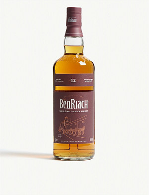 WHISKY AND BOURBON The BenRiach Sherry Wood 12-year-old Scotch 700ml