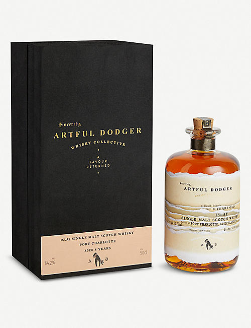 WHISKY AND BOURBON Artful Dodger Port Charlotte 8-year-old single malt Scotch whisky 500ml