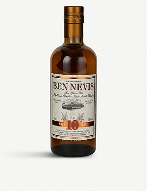 WHISKY AND BOURBON Ben Nevis 10-year-old cask strength whisky 700ml