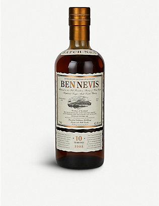 WHISKY AND BOURBON: Ben Nevis 10-year-old whisky 700ml