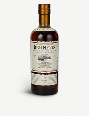 WHISKY AND BOURBON Ben Nevis 10-year-old whisky 700ml