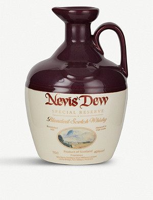 WHISKY AND BOURBON Dew of Ben Nevis special reserve ceramic decanter 700ml