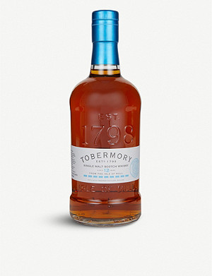 WHISKY AND BOURBON Tobermory 12-year-old single malt Scotch whisky 700ml