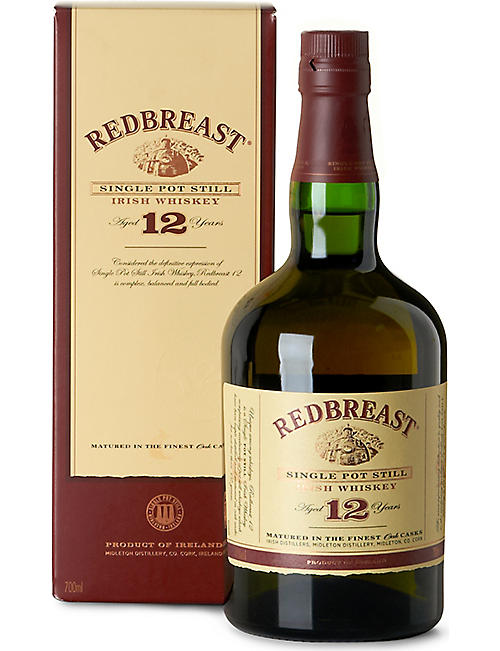 REDBREAST: Redbreast 12-year-old single pot still Irish whiskey 700ml