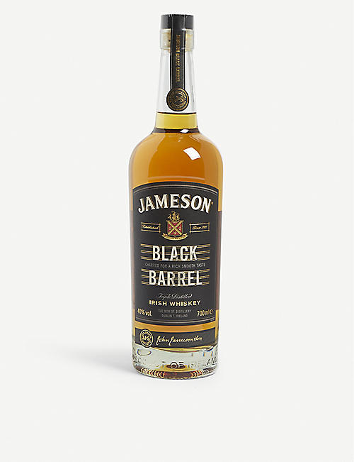 JAMESON: Select Reserve Black Barrel triple-distilled Irish whiskey 700ml