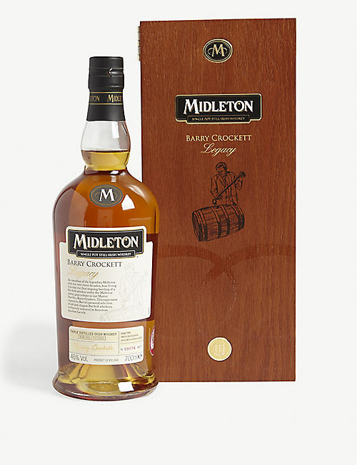 IRISH WHISKY Midleton Barry Crocketts Legacy triple-distilled Irish whiskey 700ml