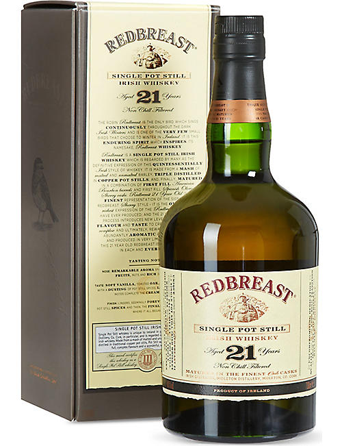 REDBREAST: 21 year old single pot still whiskey 700ml