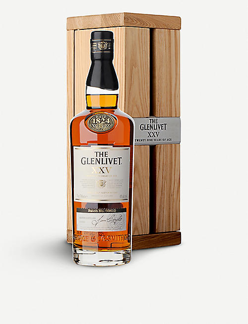 GLENLIVET: XXV 25 year-old single malt Scotch whisky 700ml