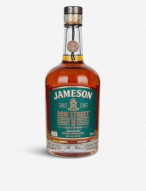 JAMESON: Jameson Bow Street 18-year-old triple distilled Irish whiskey 700ml