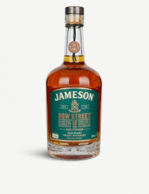 WHISKY AND BOURBON Jameson Bow Street 18-year-old triple distilled Irish whiskey 700ml