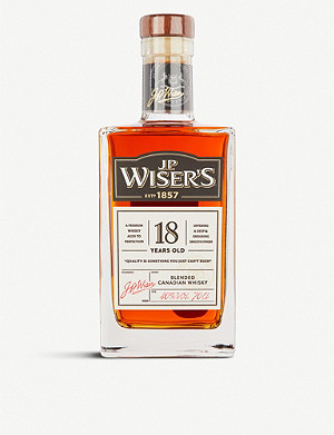 WORLD WHISKEY J.P. Wiser's 18-year-old blended whisky