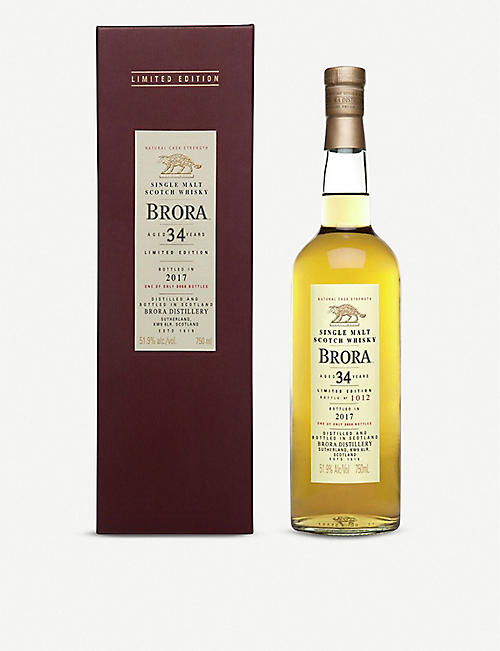 BRORA: Brora 34-year-old single malt Scotch whisky 700ml