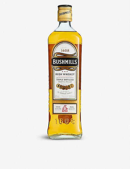 BUSHMILLS: Bushmills triple-distilled blended whiskey 700ml