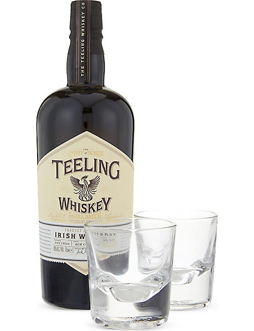 IRISH WHISKY: Small Batch Irish whisky glass set 700ml