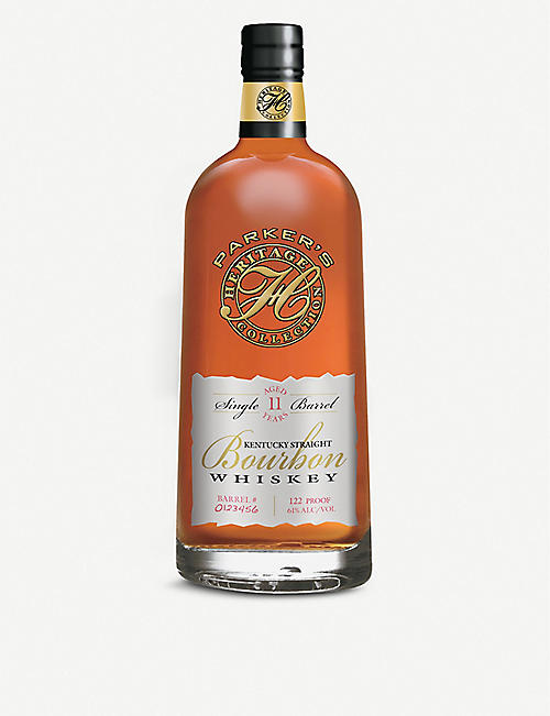 BOURBON: Parker's Single Barrel 11-year-old Kentucky straight bourbon whiskey 700ml