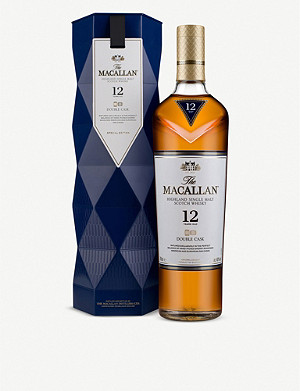 WHISKY AND BOURBON Macallan Gift Carton 12-year-old single malt double cask Scotch whisky 700ml