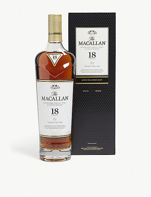 MACALLAN The Macallan 2019 18-year-old single malt Scotch whisky 700ml