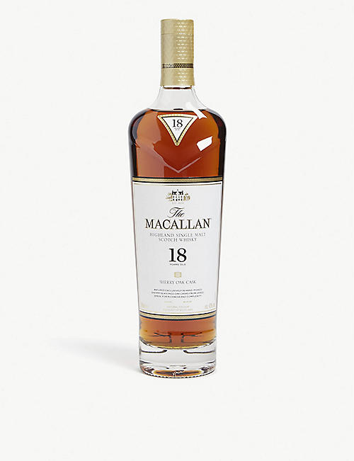 MACALLAN: The Macallan 2019 18-year-old single malt Scotch whisky 700ml
