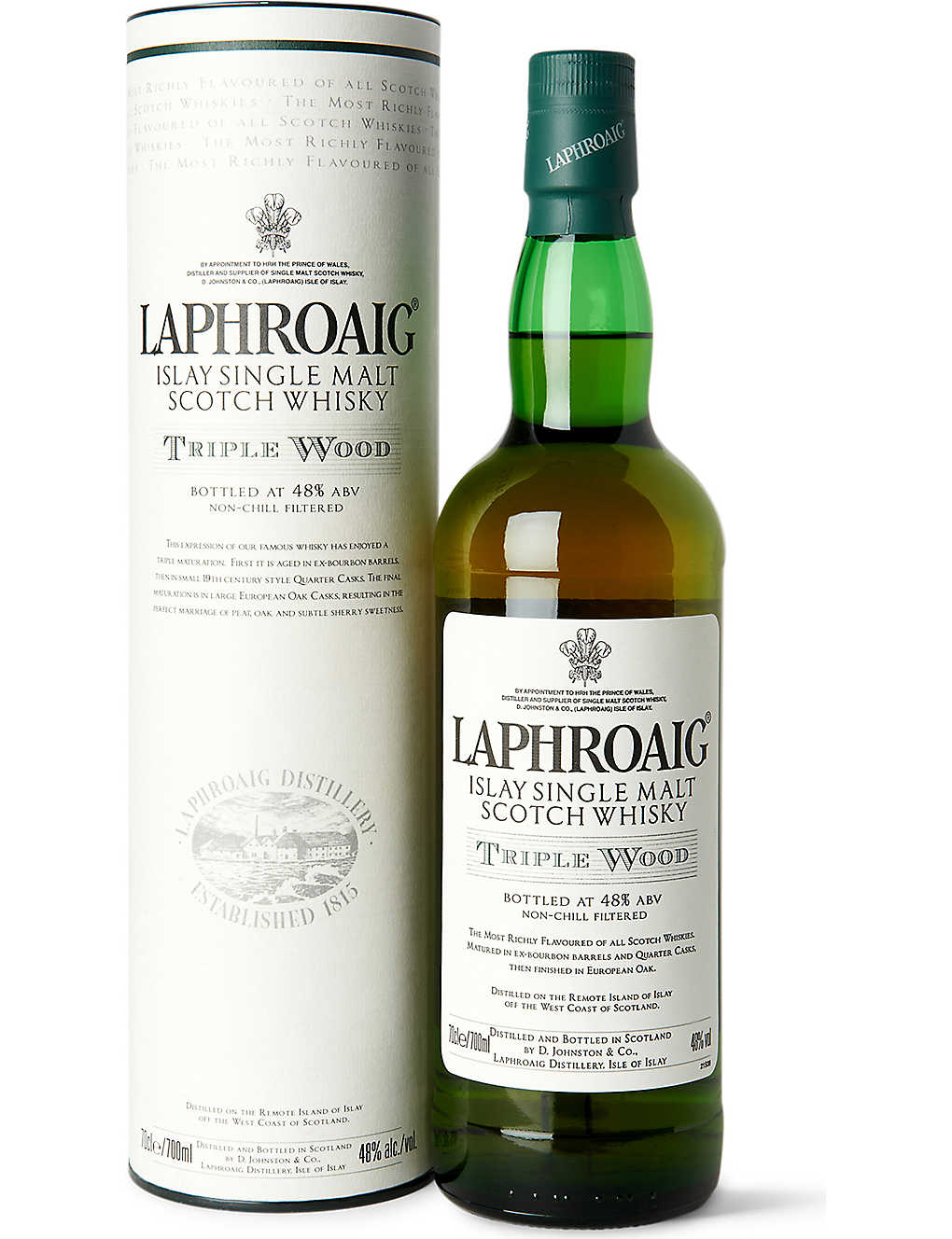 LAPHROAIG: Triple wood single malt Scotch whisky 700ml
