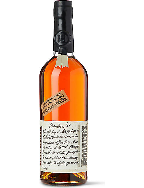WORLD WHISKEY: Booker's 6 Year Old Straight Bourbon whisky 700ml