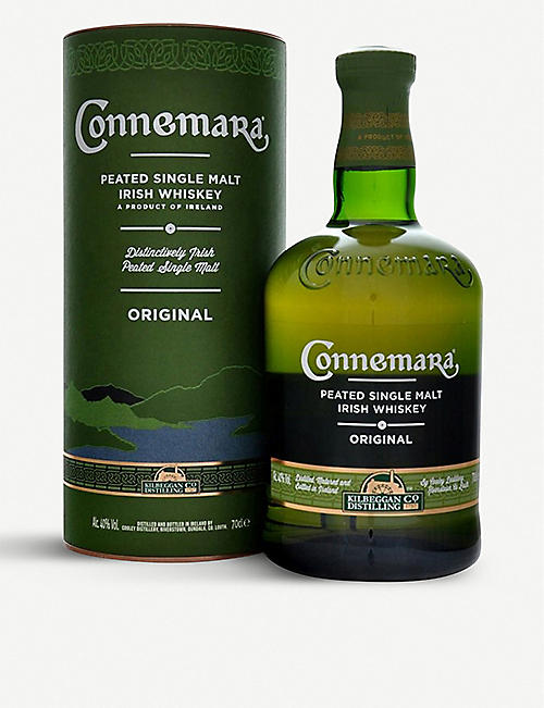 IRISH WHISKY: Connemara peated single malt Irish whiskey 700ml