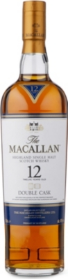 MACALLAN 12-year-old double cask Scotch whisky 700ml