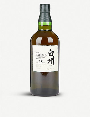 SUNTORY: Suntory Hakushu 25 year-old single-malt whisky 700ml