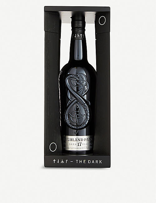HIGHLAND PARK: Highland Park The Dark 17-year-old single malt Scotch whisky 700ml