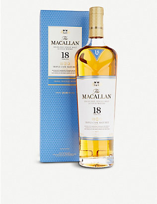 MACALLAN: The Macallan Triple Cask 2018 18-year-old single malt whisky 700ml