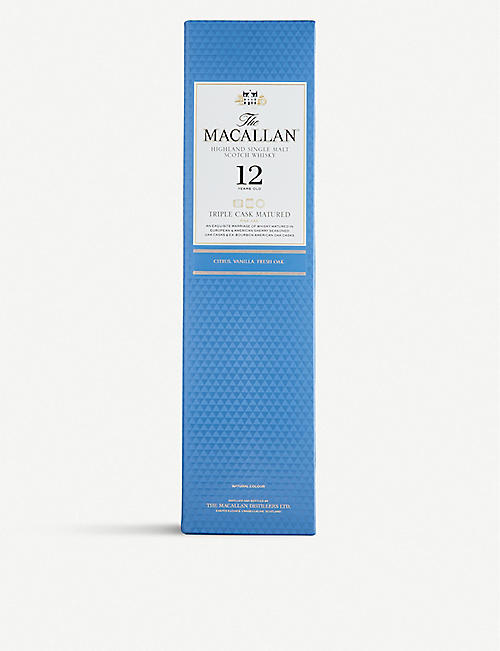 MACALLAN Macallan Triple Cask 12-year-old single malt Scotch whisky 700ml