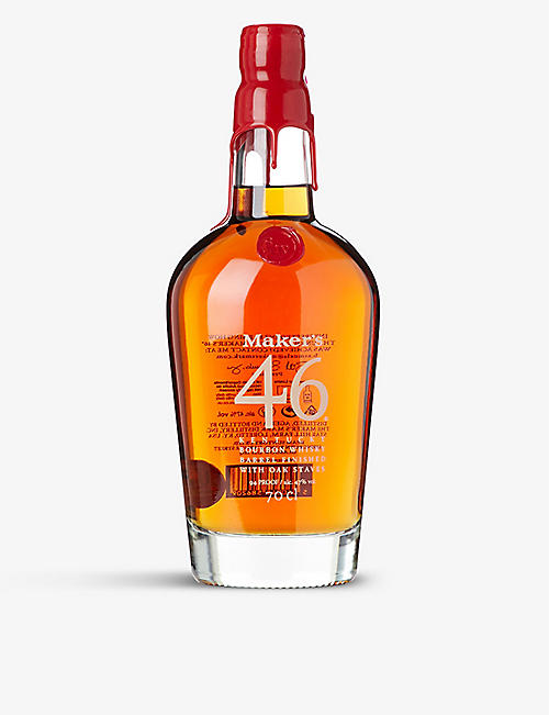 WHISKY AND BOURBON: Maker's Mark 46 Bourbon whisky 700ml