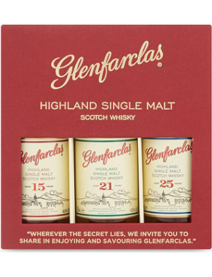 GLENFARCLAS Highland single malt Scotch whisky box 3x50ml