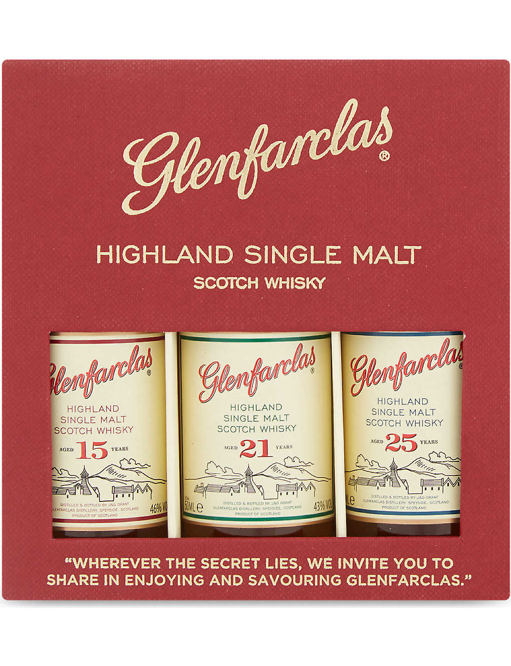 GLENFARCLAS: Highland single malt Scotch whisky box 3x50ml