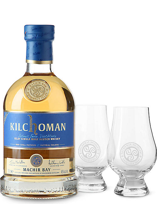 KILCHOMAN Machir bay whisky and glass two-pack 700ml